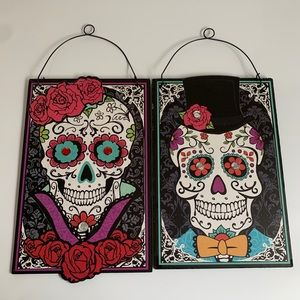 Candy Skull Wall Hanging Decor